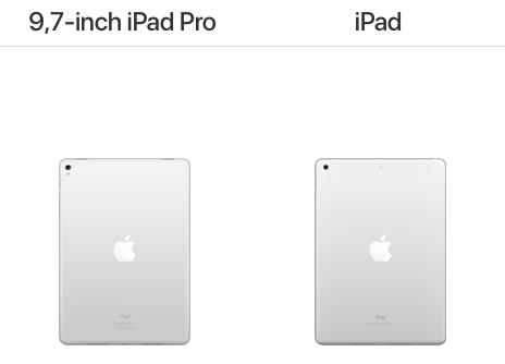iPAd 2017 vs. 9,7-inch iPad Pro