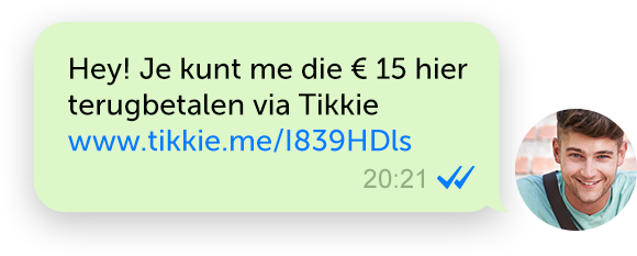 Tikkie app WhatsApp