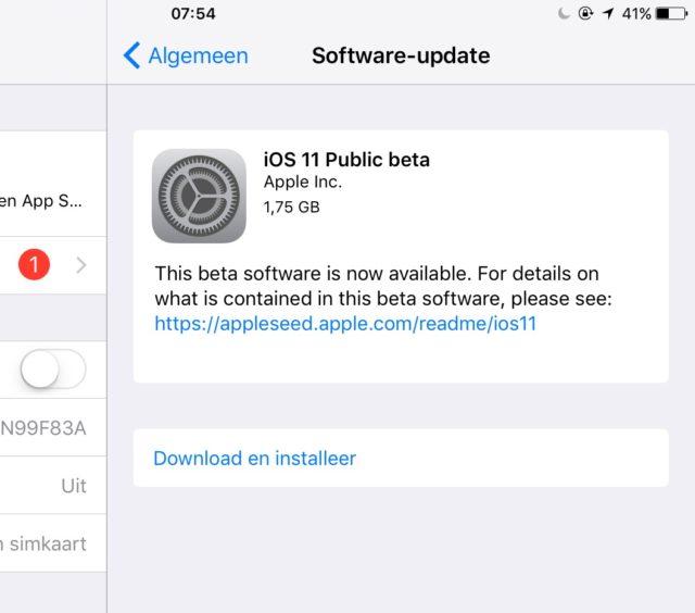 iOS 11: update