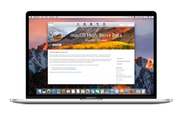 macOS High Sierra bèta