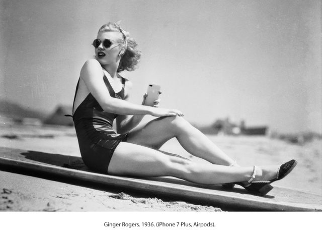 Ginger Rogers met AirPods