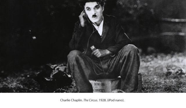 Charlie Chaplin met iPod