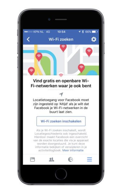 Facebook Wifi zoeken
