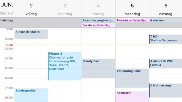 Weekweergave iPhone agenda activeren