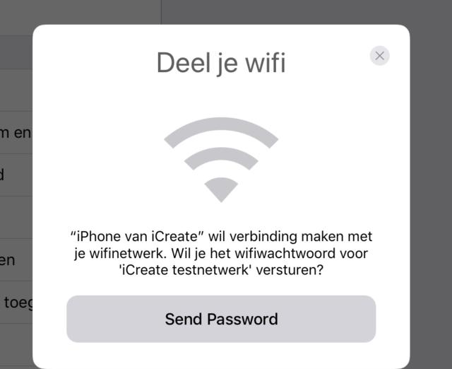 iOS 11 wifi delen