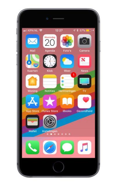 iOS 11 thuisscherm