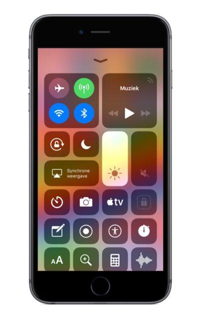 Bedieningspaneel iOS 11