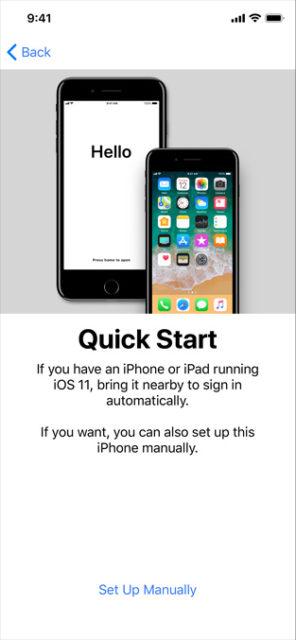 iOS 11 Quick start