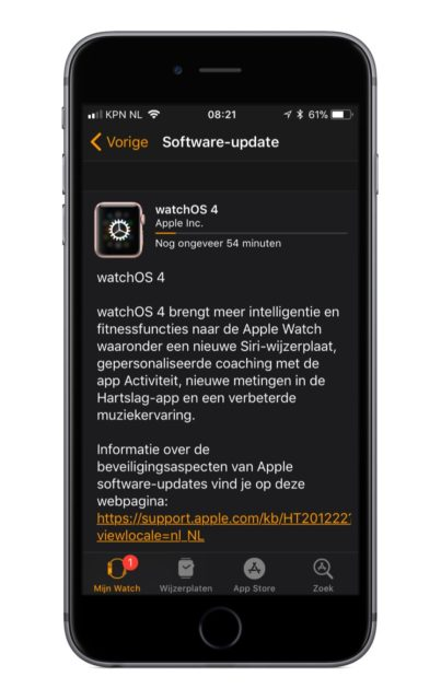watchOS 4 update