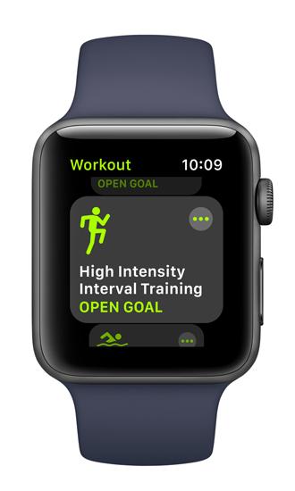Work-out app watchOS 4