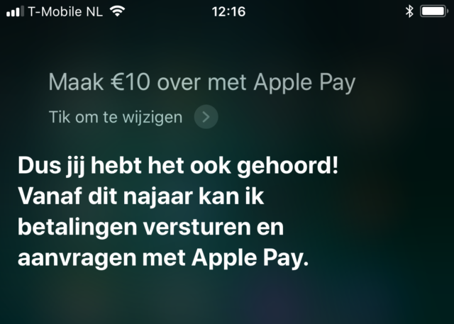 Apple Pay naar Nederland