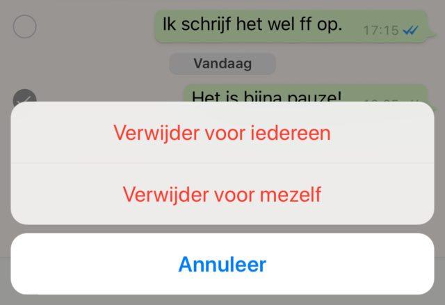 WhatsApp intrkken iphone