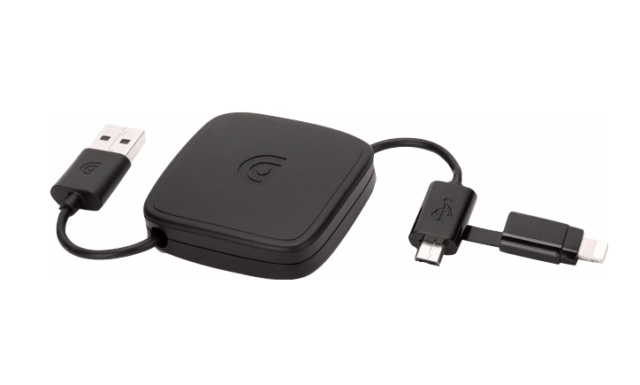 Griffin 2-in-1 retractable kabel