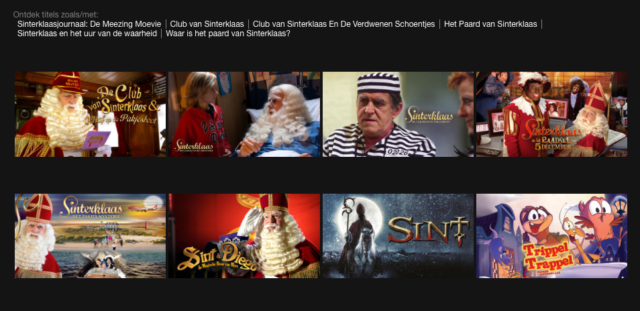 Sinterklaas op Netflix