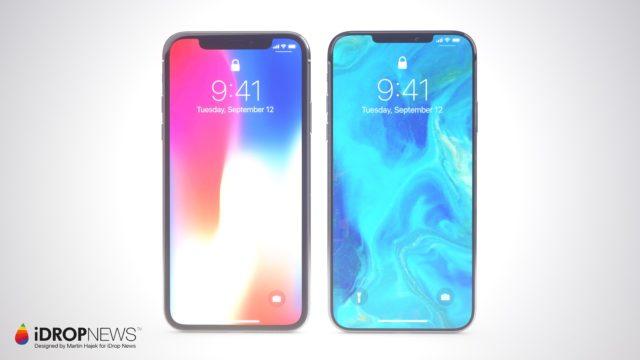 iPhone XI-concept notch en randen