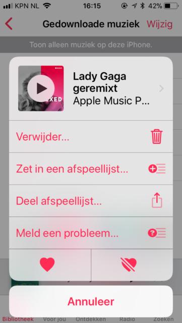 Apple Music offline luisteren