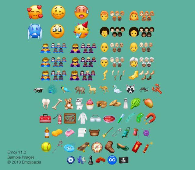 Nieuwe emoji 2018 onthuld