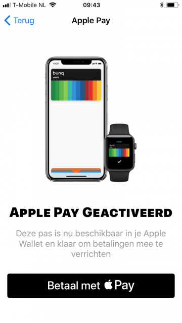 Apple Pay bunq