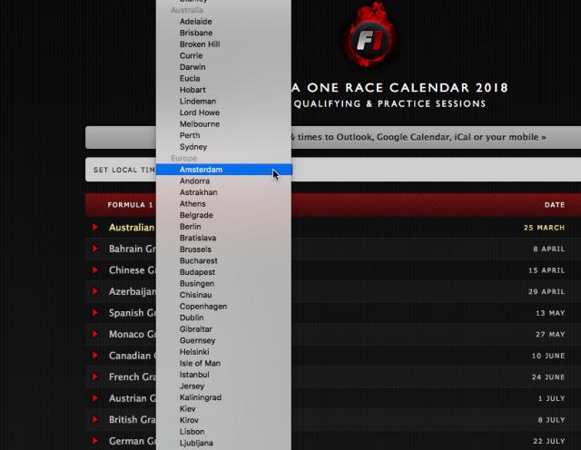 Formule 1 kalender 2018 in je agenda zetten - iCreate Magazine
