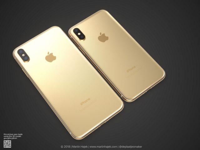 gouden iphone x en x plus