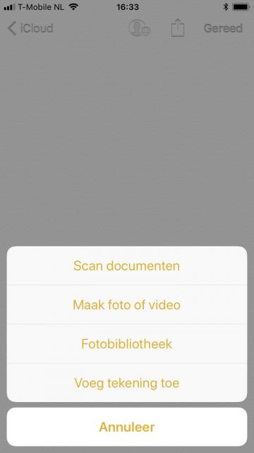Notities scanner