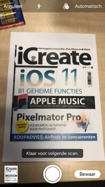 Scannen met iPhone iOS 11