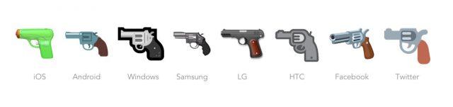 emoji pistool