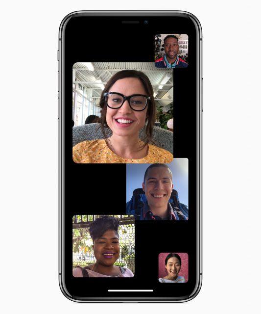 iOS 12 FaceTime groepsgesprekken