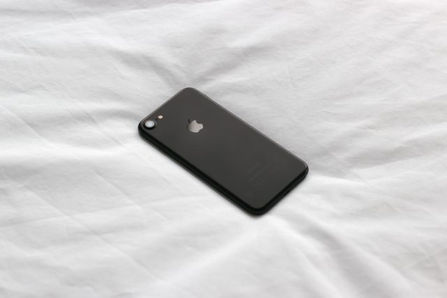 iPhone in bed