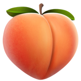 Perzik emoji