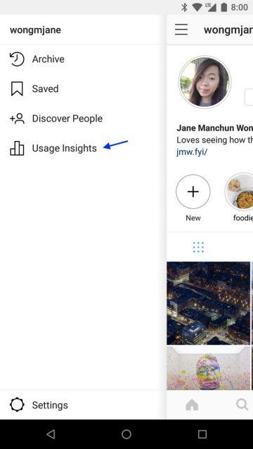 instagram app tijd bijhouden