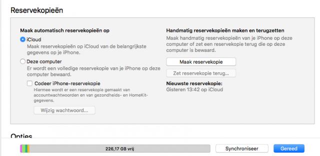 iPhone backup iTunes