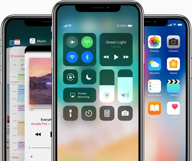 iPhone X met iOS 11