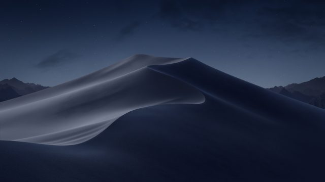 macOS Mojave wallpaper nacht