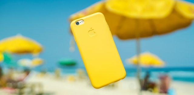 iPhone op het strand