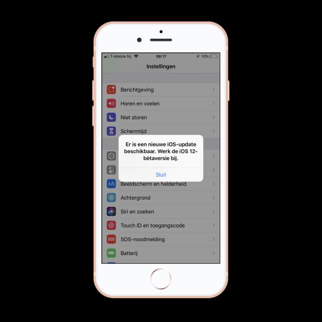 iOS 12 beta update melding