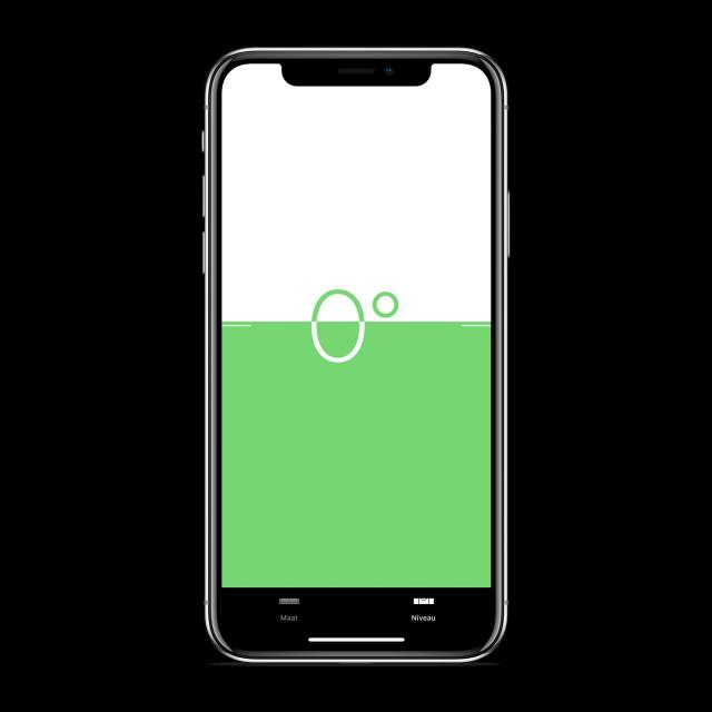 iPhone waterpas app