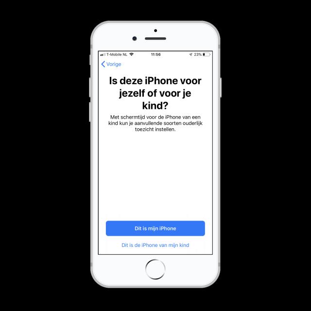 schermtijd iOS 12