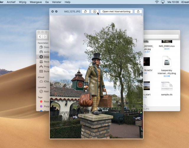 Snelle weergave macOS Mojave