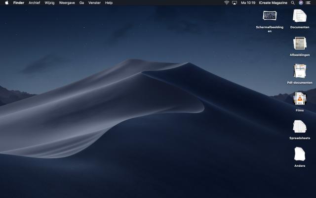 macOS Mojave nieuwe functies