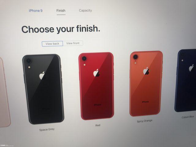 iPhone 9 kleuren website apple