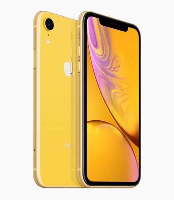 iPhone XR geel