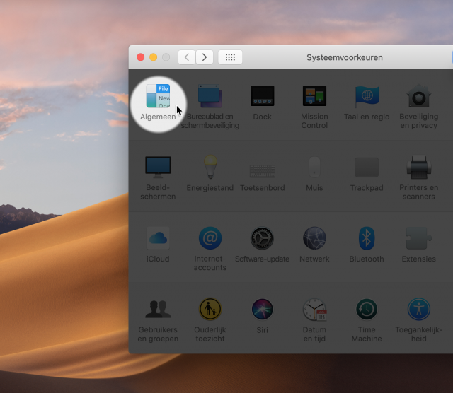 macOS Mojave donkere modus