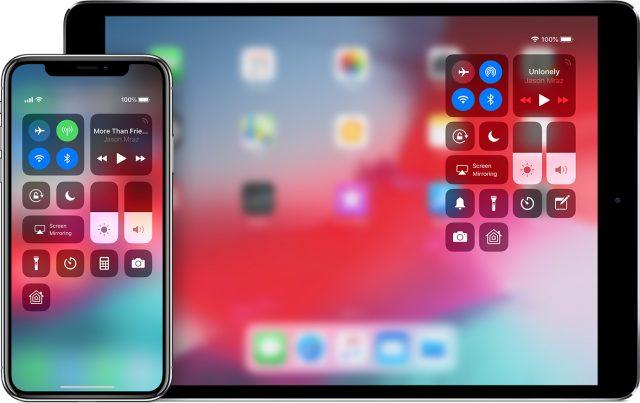 Bedieningspaneel iPad iOS 12