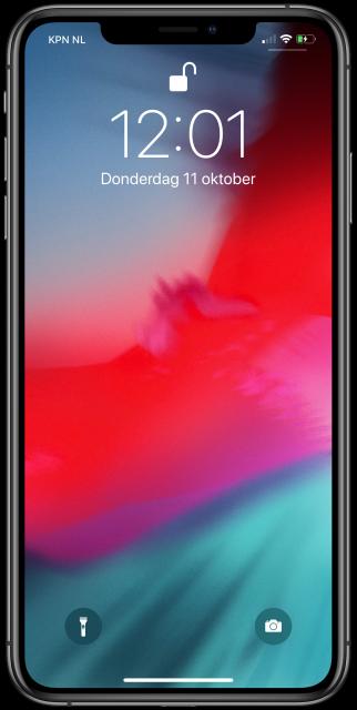iPhone X toegangsscherm