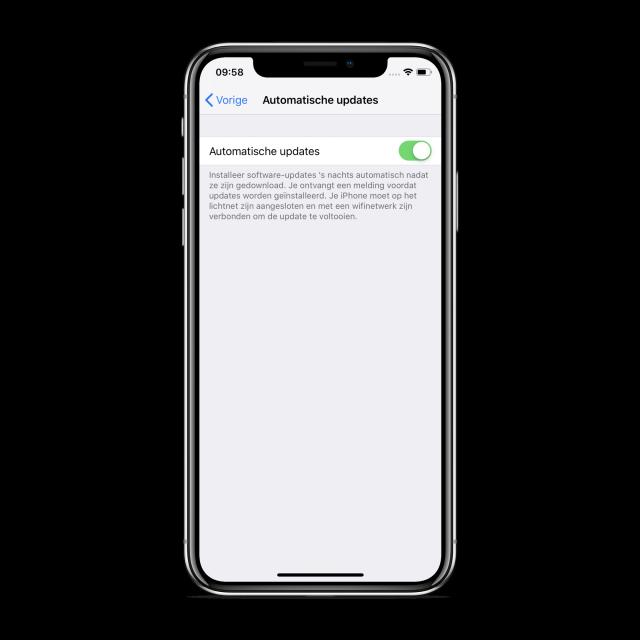 iOS 12 automatische updates