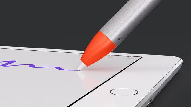 Logitech crayon kantelgevoelig