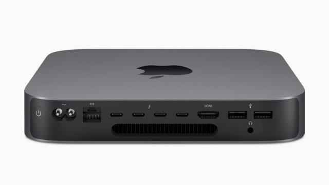 Mac mini 2018 aansluitingen