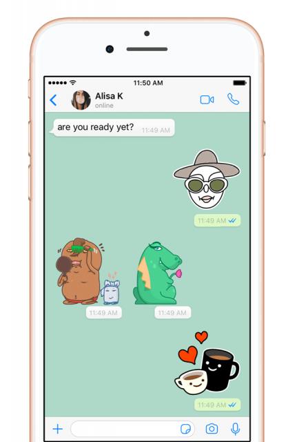 nieuwe WhatsApp stickers