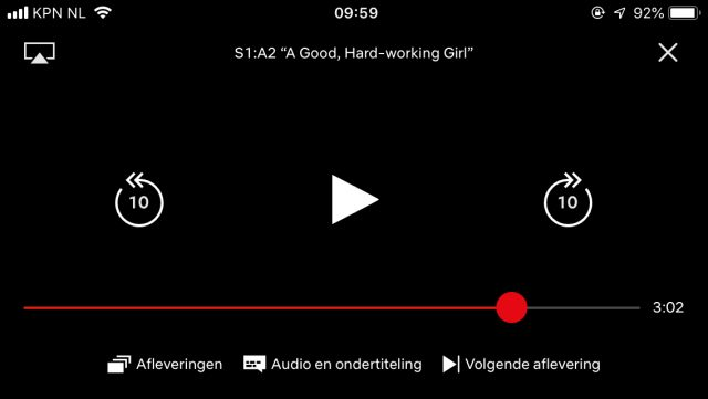 Netflix iOS Speler